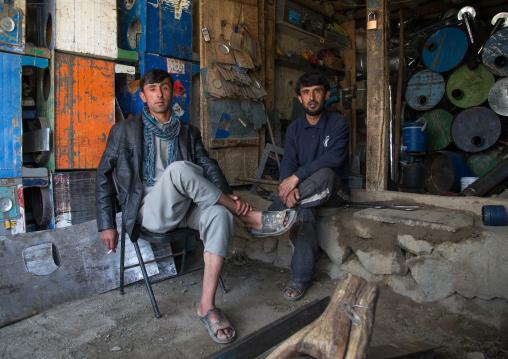 Afghan sellers in the market, Badakhshan province, Ishkashim, Afghanistan