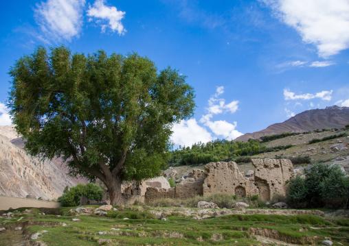 Old adobe mulsim shrine, Badakhshan province, Khandood, Afghanistan