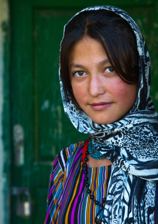 Portrait of an afghan young woman, Badakhshan province, Khandood, Afghanistan