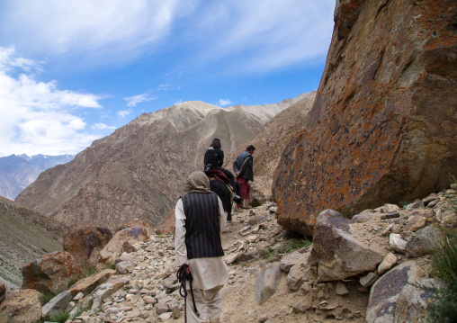 Treck in the mountains with yaks, Big pamir, Wakhan, Afghanistan
