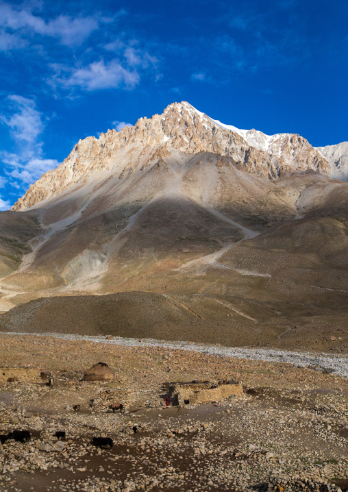 Wakhi village in the pamir mountains, Big pamir, Wakhan, Afghanistan