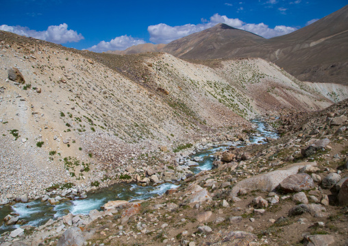 River in the pamir mountains, Big pamir, Wakhan, Afghanistan