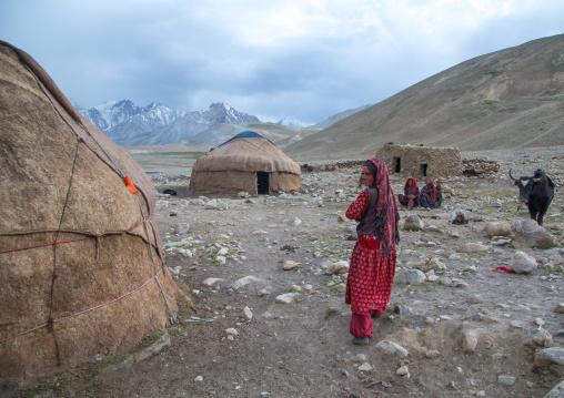 Yurts in a wakhi village, Big pamir, Wakhan, Afghanistan