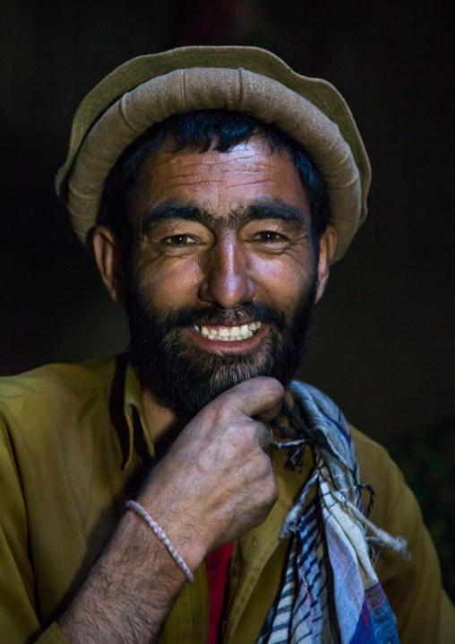 Portrait of an afghan man smiling, Badakhshan province, Khandood, Afghanistan