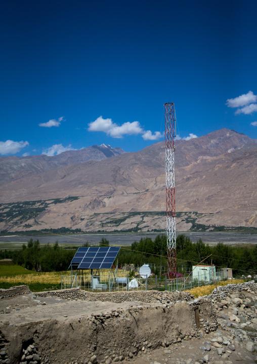 Mobile phone antenna relay, Badakhshan province, Khandood, Afghanistan