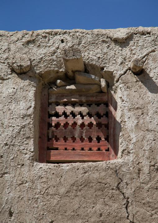Old wooden window on a pamiri house, Badakhshan province, Zebak, Afghanistan