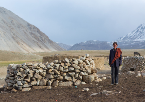 Wakhi teenage boy in his village, Big pamir, Wakhan, Afghanistan