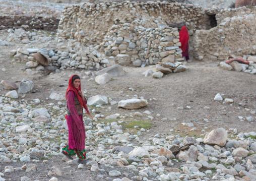 Wakhi nomad women in a village, Big pamir, Wakhan, Afghanistan