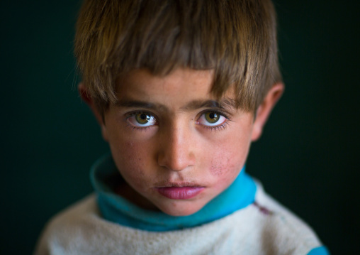 Portrait of an afghan boy with clear eyes, Badakhshan province, Zebak, Afghanistan