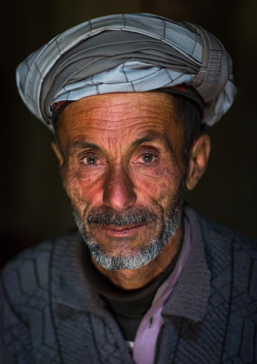 Portrait of an afghan old man, Badakhshan province, Zebak, Afghanistan