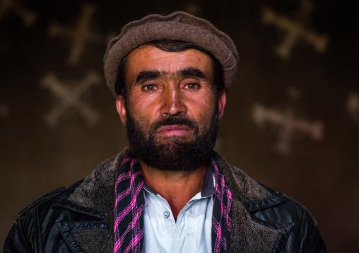 Portrait of an afghan man with a pakol hat, Badakhshan province, Zebak, Afghanistan