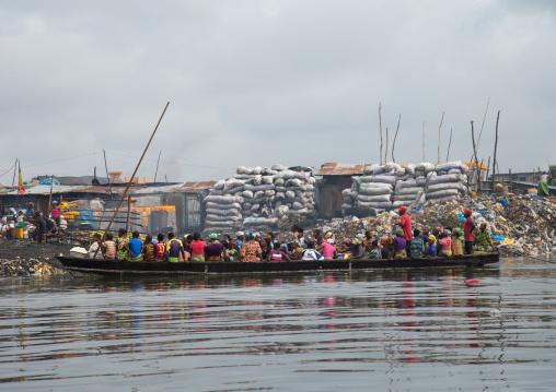 Benin, West Africa, Cotonou, dantokpa market taxi boats