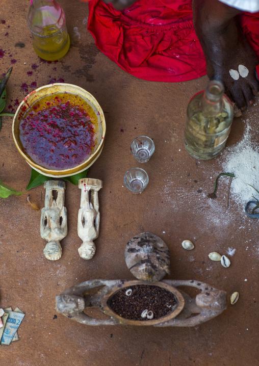 Benin, West Africa, Bonhicon, stuff for a voodoo ceremony