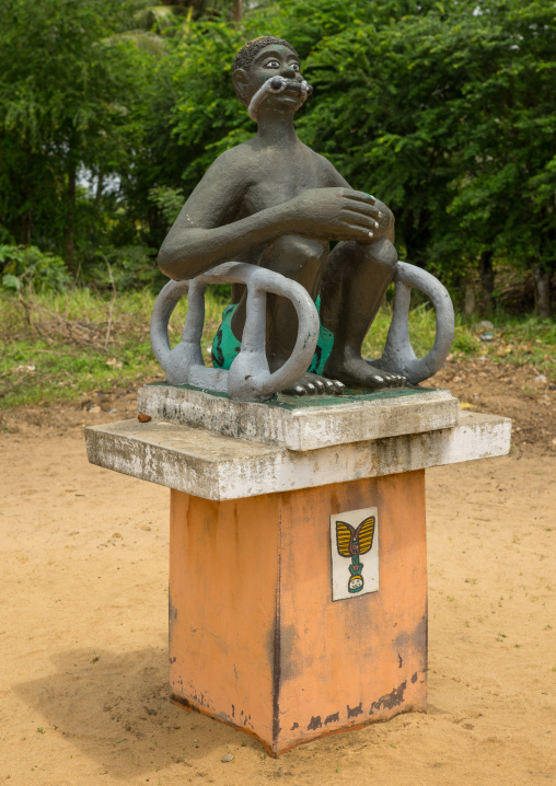 Benin, West Africa, Ouidah, memorial on the slave trail statue