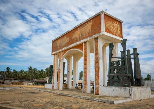 Benin, West Africa, Ouidah, memorial at door of no return, major slave port during trans-atlantic slave trade