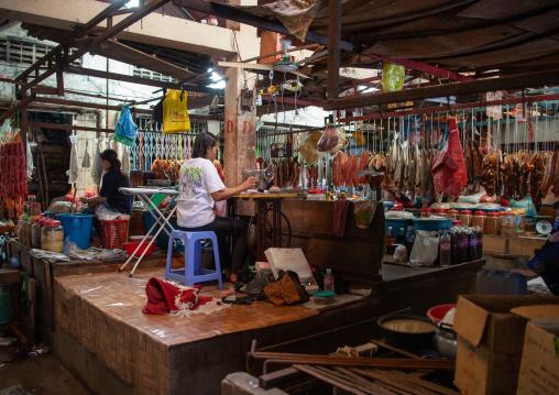 Inside a local market, Battambang province, Battambang, Cambodia