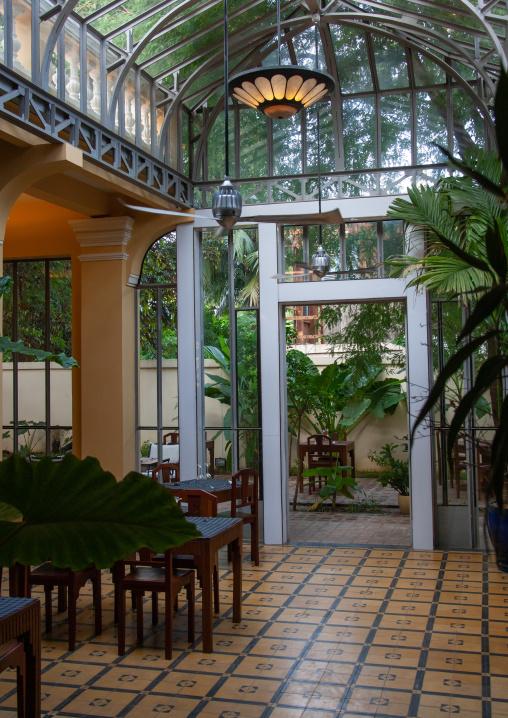 Restaurant in a former french colonial house, Battambang province, Battambang, Cambodia