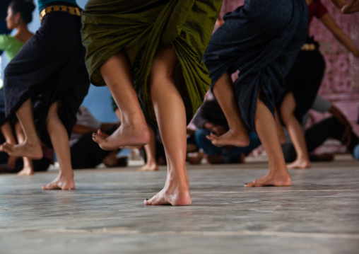 Cambodian dancers feet during a training session of the National ballet, Phnom Penh province, Phnom Penh, Cambodia