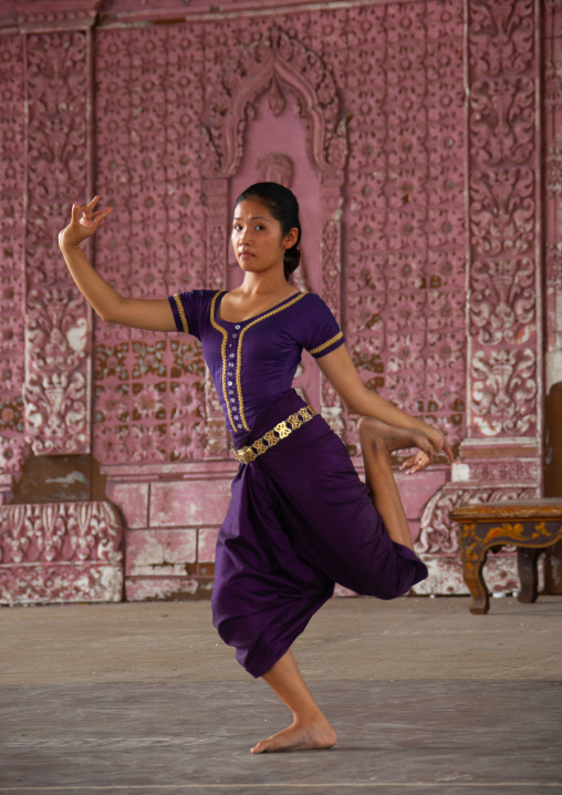 Cambodian dancer during a training session of the National ballet, Phnom Penh province, Phnom Penh, Cambodia