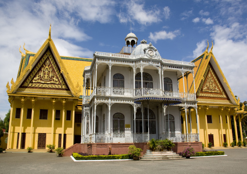 The iron house at royal palace complex was a gift of Napoleon III, Phnom Penh province, Phnom Penh, Cambodia