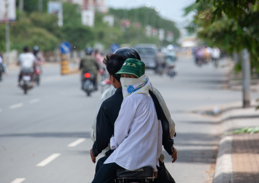 A group of people going on a motorcycle ride, Phnom Penh province, Phnom Penh, Cambodia
