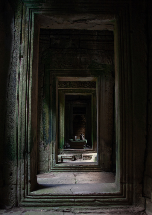 Doorways in Angkor wat, Siem Reap Province, Angkor, Cambodia