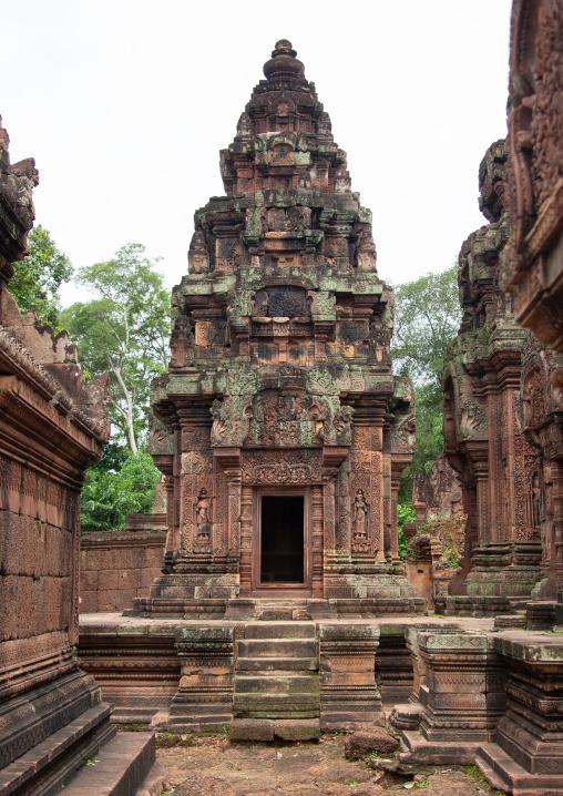Khmer temple in Angkor wat, Siem Reap Province, Angkor, Cambodia