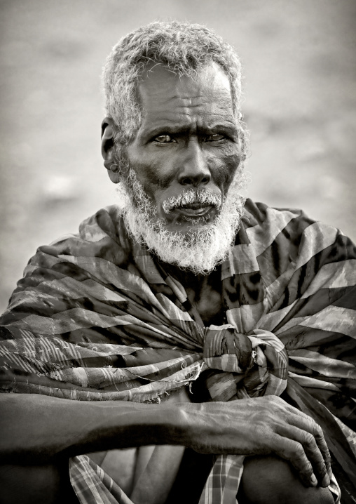 Old Afar Tribe Man, Obock, Djibouti