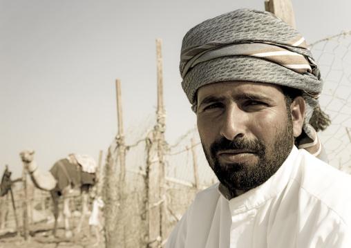 Rashaida Man In Camel Market In Al Ain, Emirates