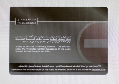 Internet Censorship ,  Dubai