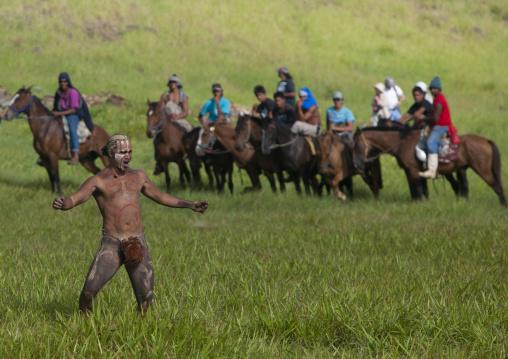 Haka Pei Banana Trunk Competition, Tapati Festival, Easter Island, Chile