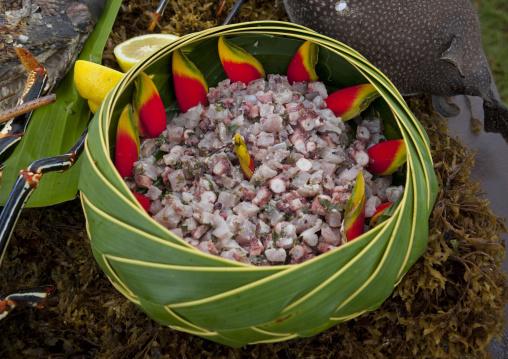 Cerviche During Tapati Festival, Easter Island, Hanga Roa, Chile