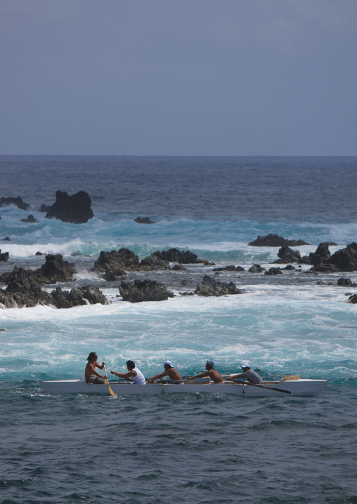 Canoe Competition, Easter Island, Chile