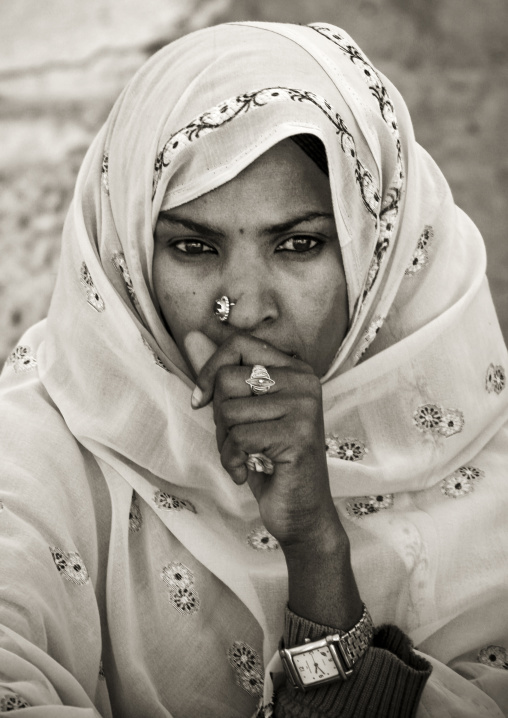 Woman During Festival Of Mariam Dearit, Keren, Eritrea