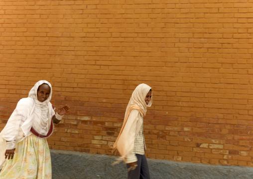 Mother And Daughter In Asmara Street, Eritrea