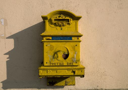 Eritrea, Horn Of Africa, Asmara, old letter box