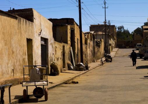 Old Italian Colonial Quarter In Asmara, Eritrea