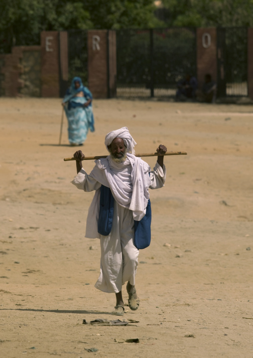 Man Walking With Stick, Keren, Eritrea