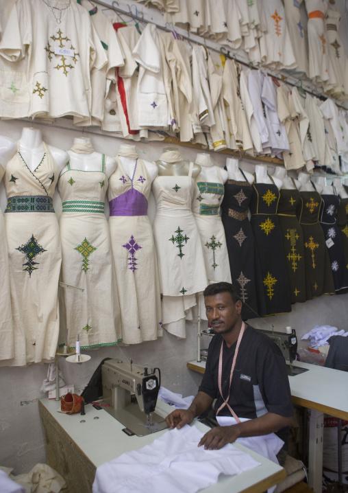 Tailor In His Shop, Central region, Asmara, Eritrea
