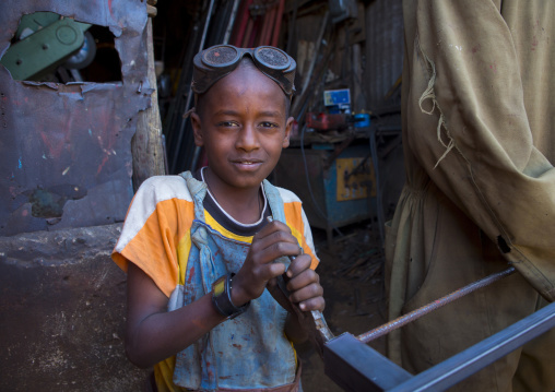 Child Working At Medebar Metal Market, Central region, Asmara, Eritrea