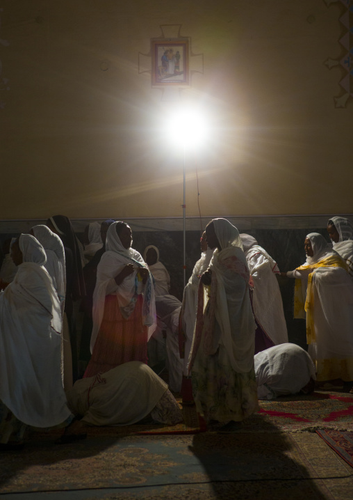People Praying In A Church, Central region, Asmara, Eritrea