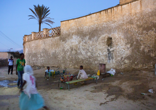 Children Doing Ablutions Before Going To The Mosque, Anseba, Keren, Eritrea