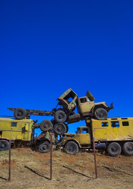 Tank And Truck Graveyard, Central region, Asmara, Eritrea