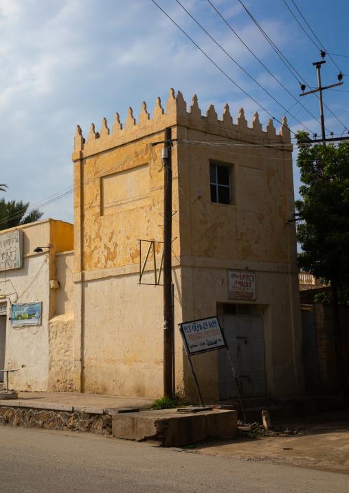 Old italian colonial building, Semien-Keih-Bahri, Keren, Eritrea