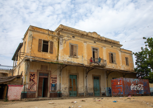 Former train station used as a bus station, Semien-Keih-Bahri, Keren, Eritrea