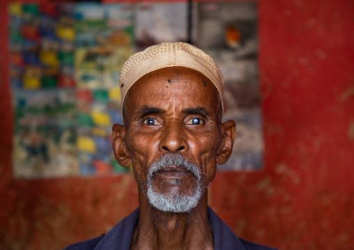 Portrait of a butcher, Gash-Barka, Agordat, Eritrea