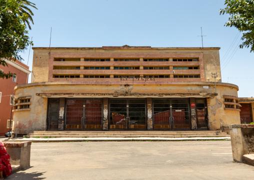 Exterior of old art deco style Capitol cinema built in 1938, Central region, Asmara, Eritrea
