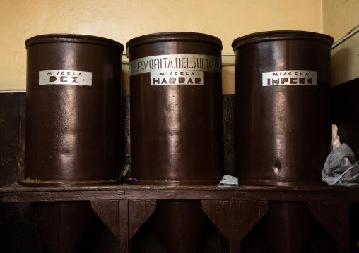 huge barrels inside a Coffee shop, Central region, Asmara, Eritrea