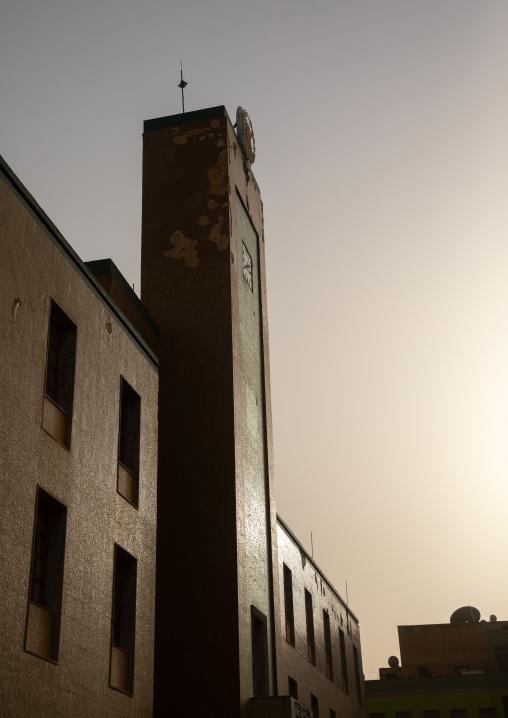 City hall building at sunset, Central region, Asmara, Eritrea