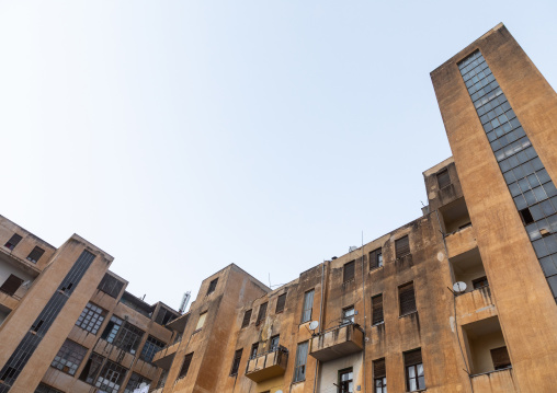 Old apartments building from the italian colonial times, Central region, Asmara, Eritrea
